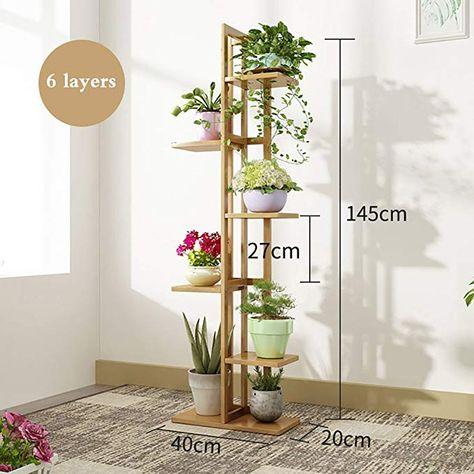 Blumenstander Blumenregal Bambus Multilayer Indoor Balkon Wohnzimmer Pflanzenstander Display Regal B In 2020 Pflanzenstander Wohnzimmer Pflanzen Blumen Regal
