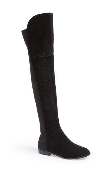 """Chinese Laundry 'Riley' Stretch Back Suede Over The Knee Boot (Women)   Nordstrom - 16"""" circ - Sale: $75"""
