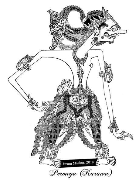 Wayang Kurawa : wayang, kurawa, Wayang, Kurawa, Lukisan, Seni,