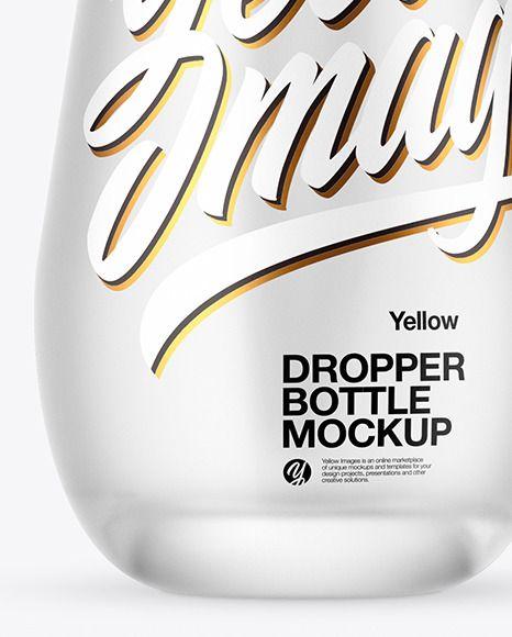 Frosted Glass Dropper Bottle Mockup In Bottle Mockups On Yellow Images Object Mockups Bottle Mockup Glass Dropper Bottles Dropper Bottles