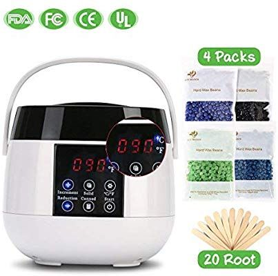 Amazon Com Wax Warmer Hair Removal Portable Waxing Kit With Lcd