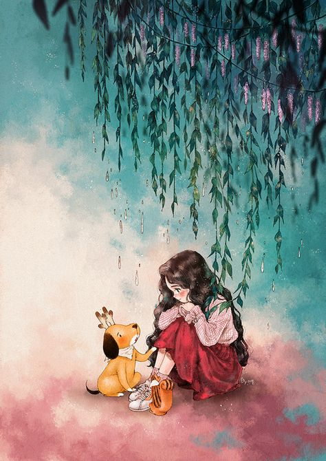 Image discovered by Naty. Find images and videos about girl, wallpaper and dog on We Heart It - the app to get lost in what you love.