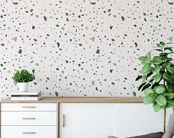 Sticker Wallpaper Easy Diy Apply Paper Free Peel And Stick Etsy Easy Diy Wallpaper Glass Fridge