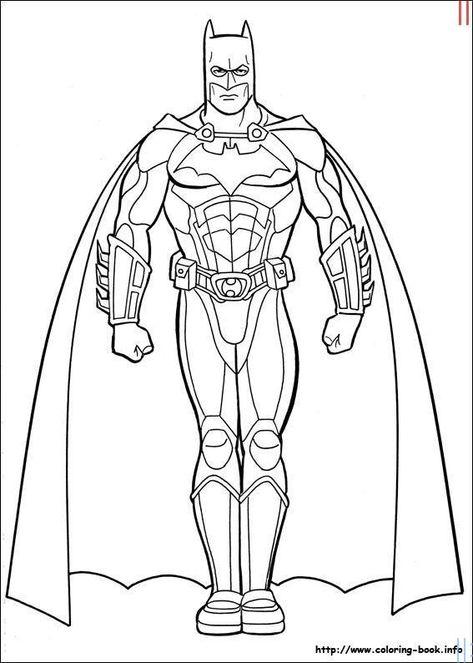 Evde Kolay Yeni Batman Boyama Resimleri Batman Boyama Sayfalari3