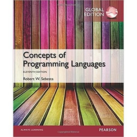 Concepts Of Programming Languages 11th Edition Isbn 13 978