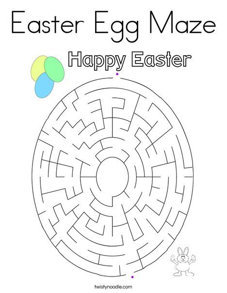 Easter Egg Maze Coloring Page Twisty Noodle Coloring Easter Eggs Coloring Eggs Easter Egg Coloring Pages