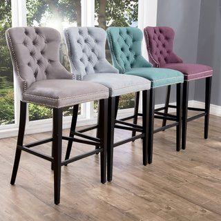Magnificent Abbyson Versailles 30 Inch Tufted Velvet Barstool Kitchen Spiritservingveterans Wood Chair Design Ideas Spiritservingveteransorg