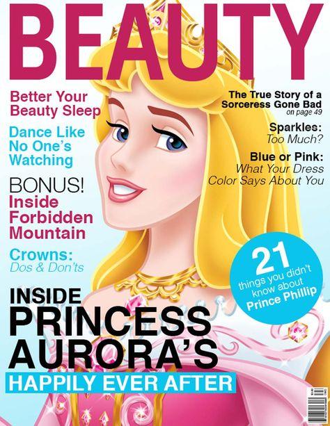 Capas de revistas com as Princesas Disney   Just Lia