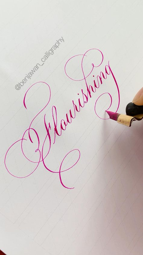 Now you can learn the secrets behind this flourishing from my workbook. Check out my website for more info! #calligraphy #copperplatecalligraphy #penmanship #copperplate #flourishing #calligraphypractice #pencilcalligraphy