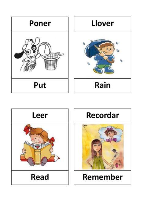 V  Poner  Llover  Put  Rain  Leer  Recordar  Read  Remember