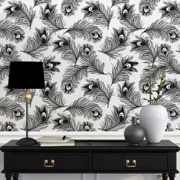 Feather Removable Wallpaper Self Adhesive Wallpaper Wall Decor Decals