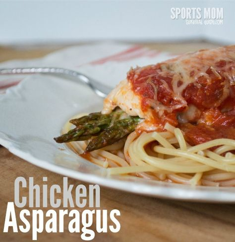 Easy 30-minute Chicken Asparagus. Add this to your list of yummy quick meals. Step-by-step directions and photos included to show you how to make Chicken Asparagus.