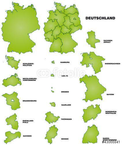Vektor Deutschland Und Bundeslander Bundeslander Deutschland