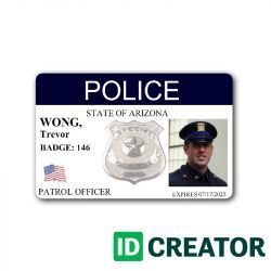 Law Enforcement Badges Id Cards And Badges For Police Officers Id Badge Maker Id Card Template Badge Maker