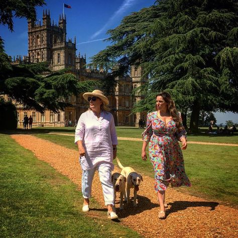 """Highclere Castle on Instagram: """"Spent the loveliest day with Kelly Brook @iamkb exploring the gardens here at Highclere - coming soon on @thismorning - comparing wild…"""""""