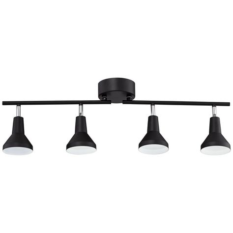 Pro Track Geary 4 Light Matte Black Led Fixture