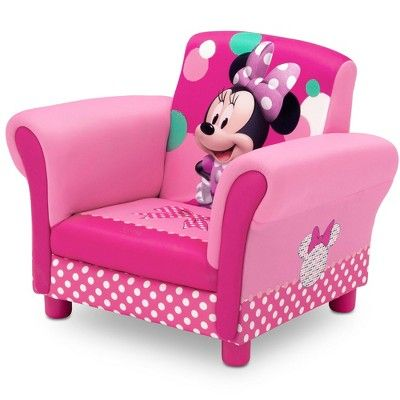 Minnie Mouse Upholstered Kids Armchair Disney Minnie Mouse
