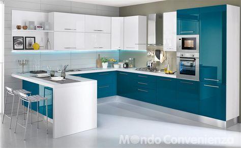Cucina Katy - Mondo Convenienza | Kitchens and pantries | Pinterest ...