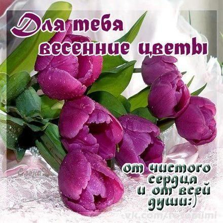 Открытка для Тебя, весенние цветы, картинка Тебе, просто так, от ...