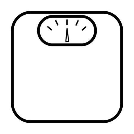 Weighing Scale Line Icon Simple Minimal Pictogram Vector Illustration Cute Easy Drawings Baby Elephant Cartoon Baby Clip Art