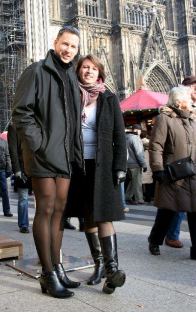 Husbands wearing pantyhose