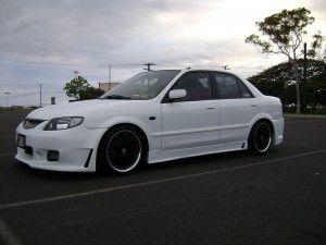 Mazda Protege White Black Rides Styling Mazda Protege Mazda White And Black
