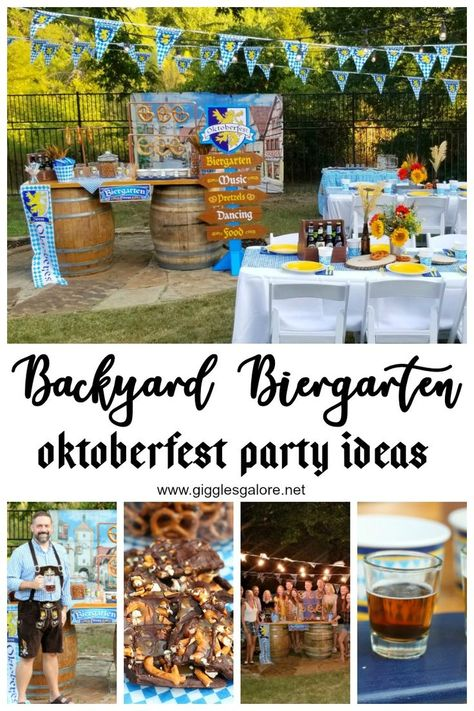 Backyard Biergarten Oktoberfest Party – Giggles Galore Backyard Biergarten Oktoberfest Party This fall bring out the beer steins, toast to good friends and celebrate the best of Germany's traditional Oktoberfest right in your own backyard. Dinner Themes, Party Themes, Party Ideas, Oktoberfest Hairstyle, Oktoberfest Outfit, Beer Tasting Parties, Dinner Parties, Octoberfest Party, Beer Fest