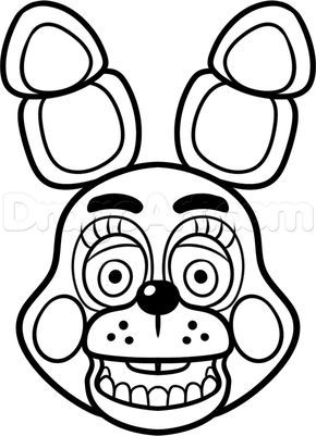 How To Draw Toy Bonnie From Five Nights At Freddys 2 By Dawn