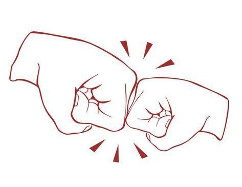 Best Friend Fist Bump Svg File Fist Bump Fist Tattoo Best Friend Canvas
