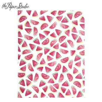 Watercolor Watermelon Scrapbook Paper 8 1 2 X 11 Scrapbook
