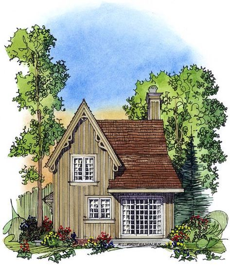 Victorian Style House Plan 86001 With 2 Bed 2 Bath Victorian House Plans Gothic House Tiny Houses Plans With Loft
