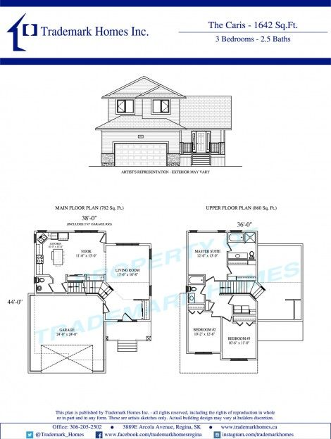 Trademark Homes Typical Floor Plan Home Inc Floor Plans Home