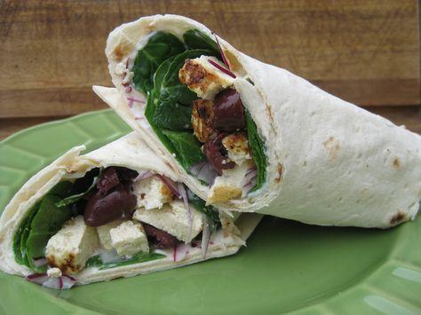 Greek Wraps with Lemon-Kissed Tofu | Vegetarian Times