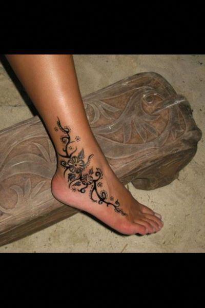Ankle Foot Tattoo Tattoos Foottattoos Polynesiantattoos Ankle Tattoos For Women Foot Tattoos For Women Foot Tattoo