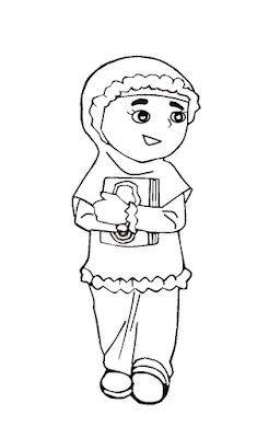 Aneka Gambar Mewarnai 10 Gambar Mewarnai Anak Muslim Untuk Anak