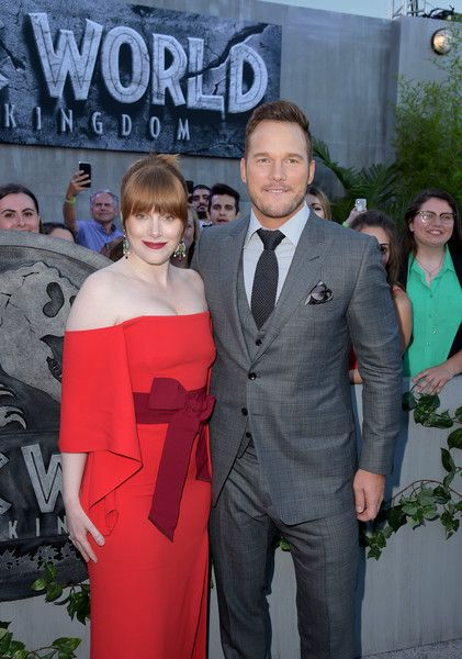 Bryce Dallas Howard (L) and Chris Pratt attend the premiere of Universal Pictures and Amblin Entertainment's 'Jurassic World: Fallen Kingdom.'