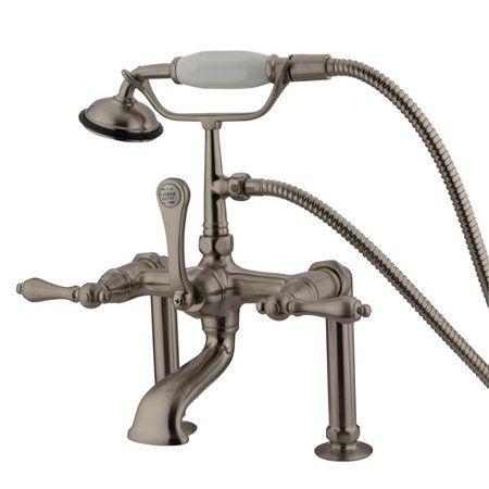 Hot Springs Triple Handle Wall Mounted Clawfoot Tub Faucet With Handshower Clawfoot Tub Faucet Clawfoot Tub Tub Faucet