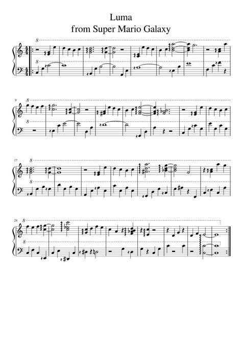 mario kart 64 rainbow road sheet music