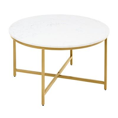 Victoria Marble Gold Round Coffee Table In 2020 Coffee Table