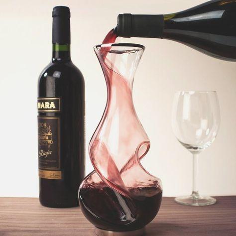Twist Decanter Med Billeder Vinbar Vin Glaskunst