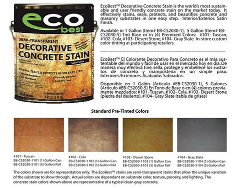 Cement Stain Concrete Eco