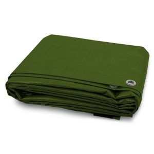 Tarpaulin 200gsm Heavy Duty Green Builders Waterproof Ground Sheet Tarp Cover
