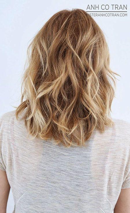 Medium Length Wavy Blonde Haircuts Peinados Ondulados Cabello De Longitud Medio Peinados
