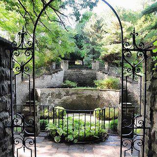 Charming Highland Park Rochester New York | Sunken Garden Behind Warner Castle On  Mt. Hope Ave