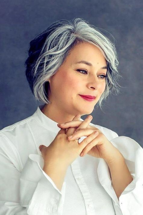 Amazing Gray Hairstyles We Love Gray Hair Highlights Grey Hair Styles For Women Silver Hair Color