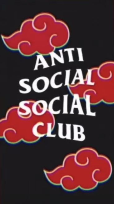 Anti Social Social Club Red Cloud Wallpaper Anti Social Social Club Cloud Wallpaper Edgy Wallpaper