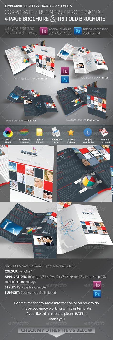 Dynamic 4 Page Brochure & Tri Fold