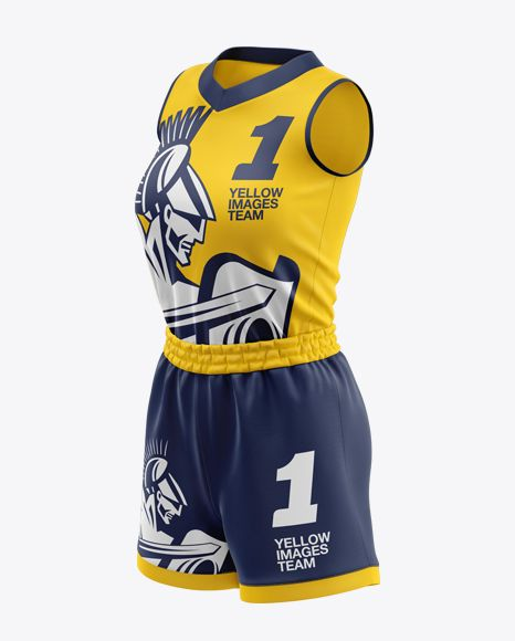 Download Women S Basketball Kit Mockup Half Side View In Apparel Mockups On Yellow Images Object Mockups Clothing Mockup Basketball Kit Design Mockup Free