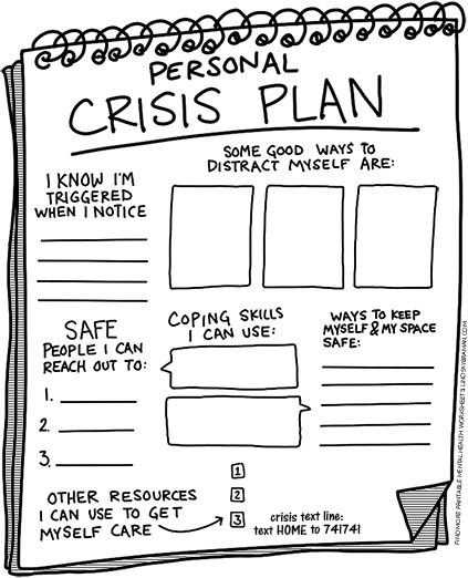 Creating A Crisis Plan A Free Printable Worksheet For Safety Planning Lindsaybraman Social Emotional Learning Mental And Emotional Health Therapy Worksheets Mental health activities worksheet