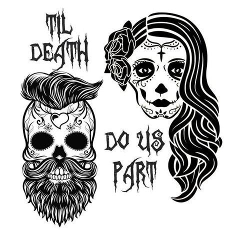 Sugar Skull SVG, day of the dead svg, Wedding Skull Svg, hipster svg Sugar Skull SVG, jour des morts Sugar Skull Mädchen, Sugar Skull Artwork, Sugar Skull Tattoos, Sugar Skull Drawings, Mexican Skull Tattoos, Sugar Skull Design, Skull Couple Tattoo, Couple Tattoos, Skull Tattoo Girls